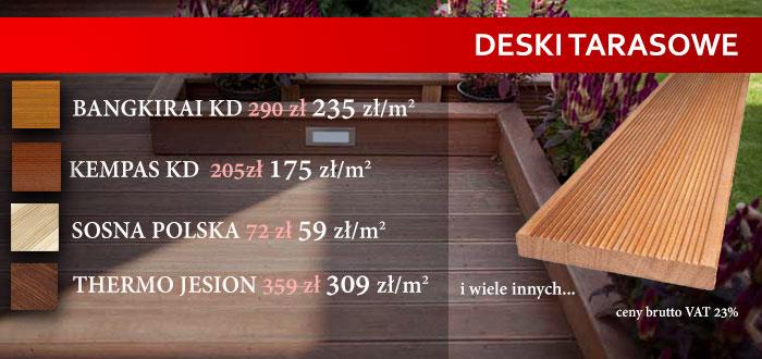 Deski tarasowe w najlepszych cenach!