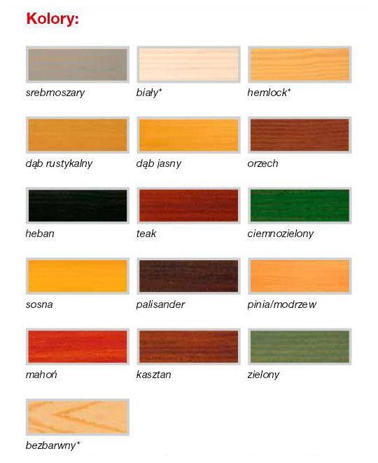 Wzornik kolorów Remmers HK-Lasur