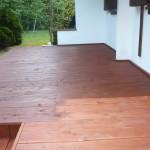 Taras drewniany.