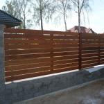 Ogrodzenie drewniane.